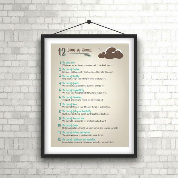 Elegant 12 Laws of Karma Poster 18