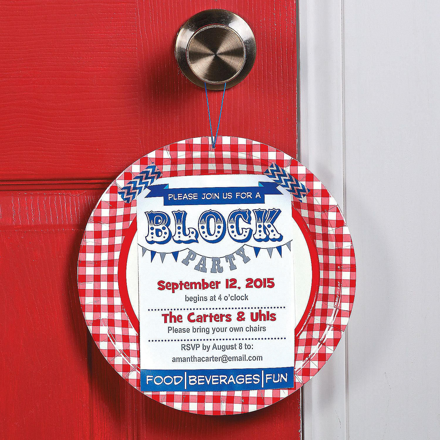 Neighborhood Block Party Invitation Idea | This DIY invitation is a ...