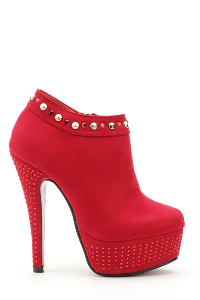 Encrusted Platform Red Ankle Boots.  I can't wait for these to arrive :D #Love