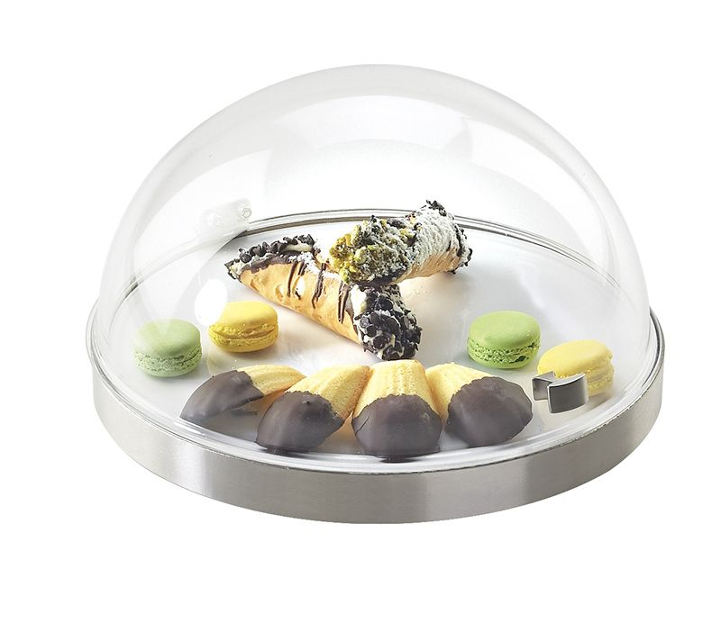 Round Base Flip Lid Chill Sampler Item: 3328-12-55. The ability to add the Cold Concept liner and ice packs allow all your favorite presentations to remain chilled, while the acrylic dome cover provides separation and maintaining visibility.  - See more at: http://www.calmil.com/index