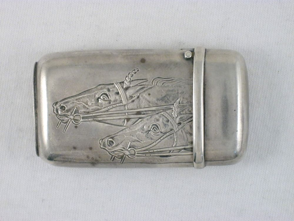 Antique Dominick & Haff Sterling Silver Match Safe Equestrian Horse Racing in Antiques   eBay