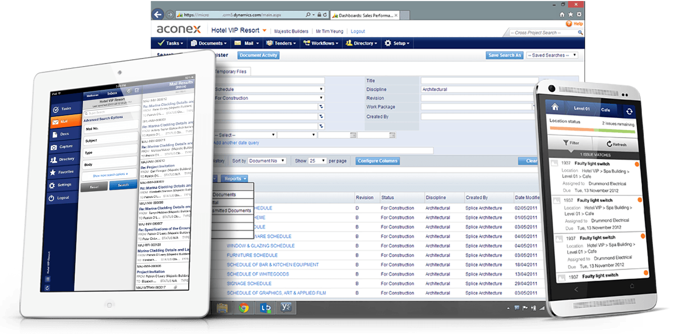 Aconex Screenshot    Aconex    Construction Project