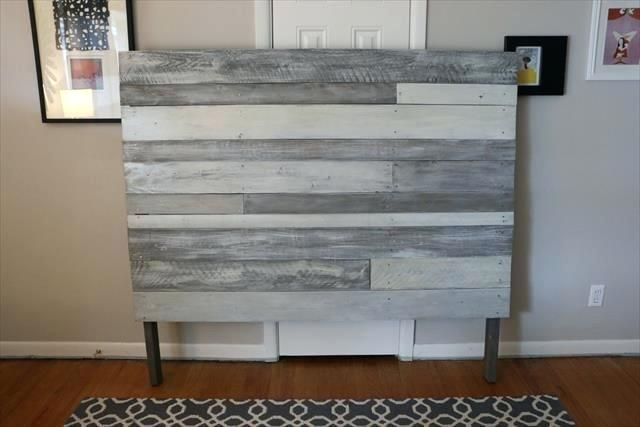 Grey Wood Headboard Wooden Pallet White And Grey Painted Headboard