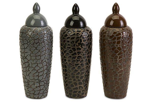 S/3 Ronoake Lidded Jars on OneKingsLane.com