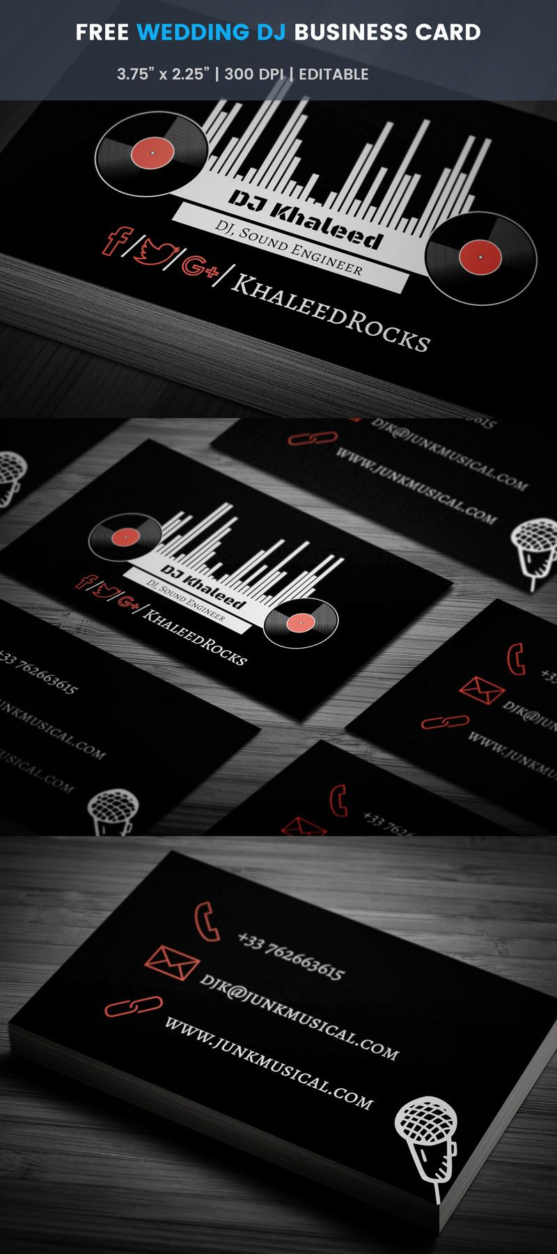 Wedding dj business card full preview free business card wedding dj business card full preview accmission Choice Image