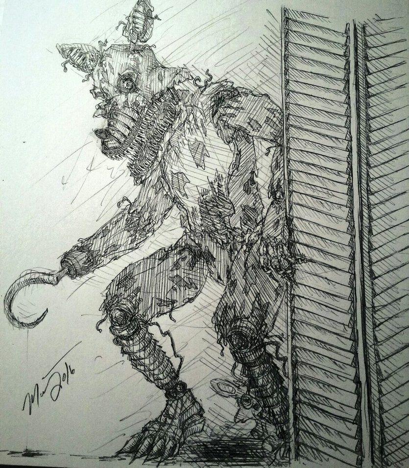 Nightmare Foxy By Viva La Murr Fnaf Art