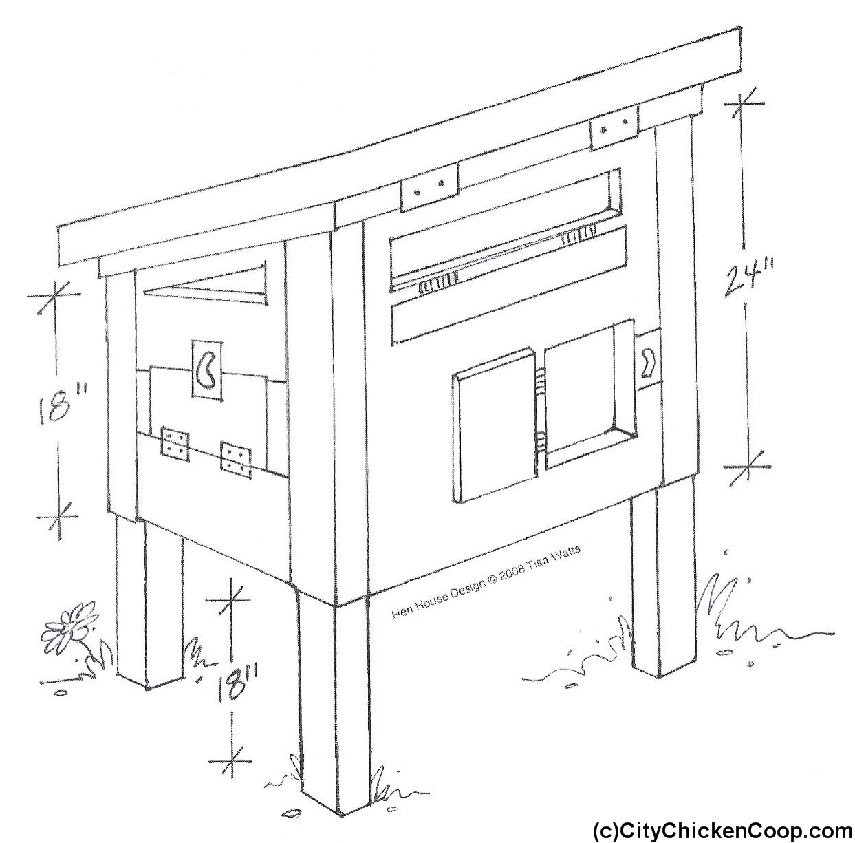 Image detail for small chicken coop building plans for Chicken coop size for 6 chickens