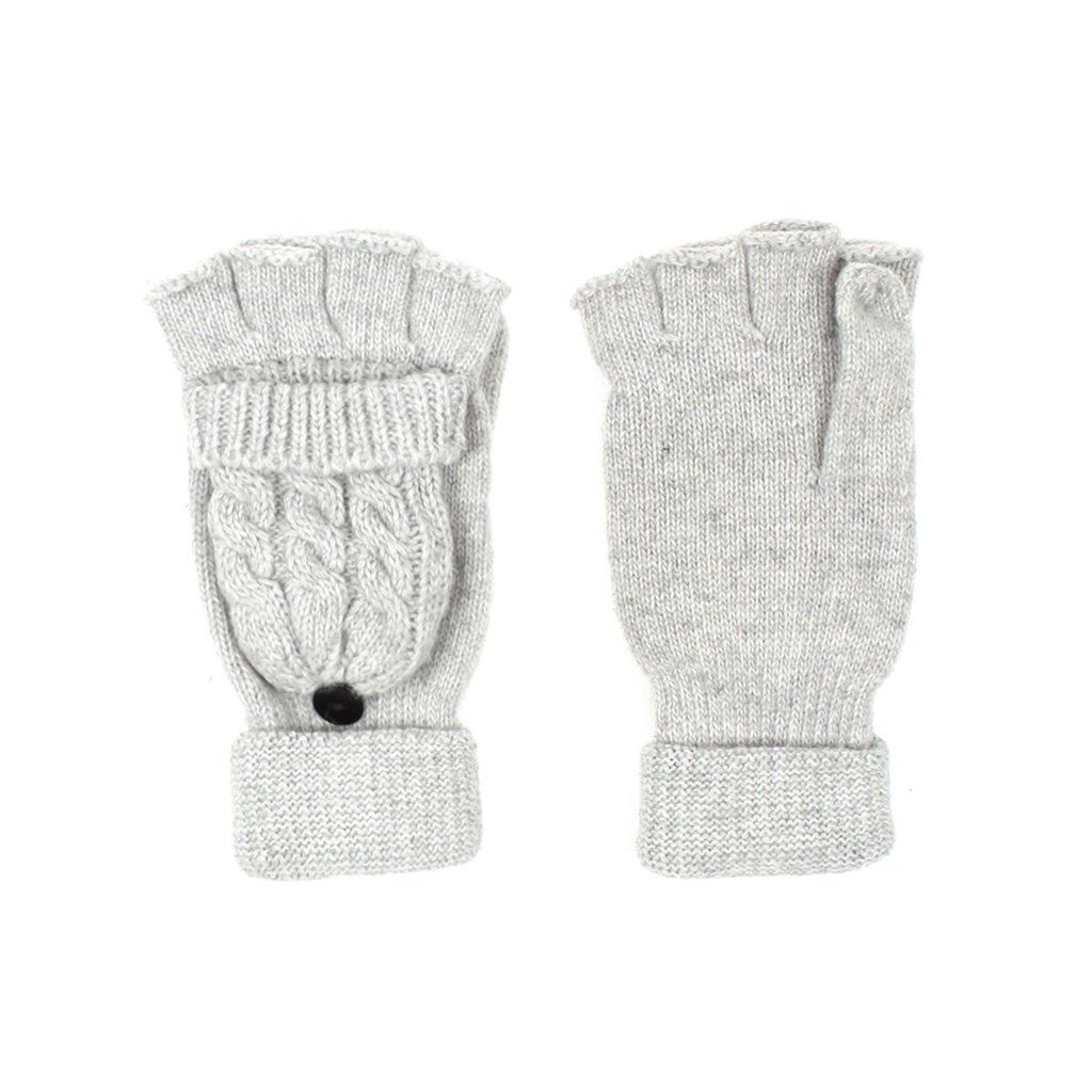 Unisex Cable Knit Wool Blend Fingerless Gloves Mitten Top   Products ...