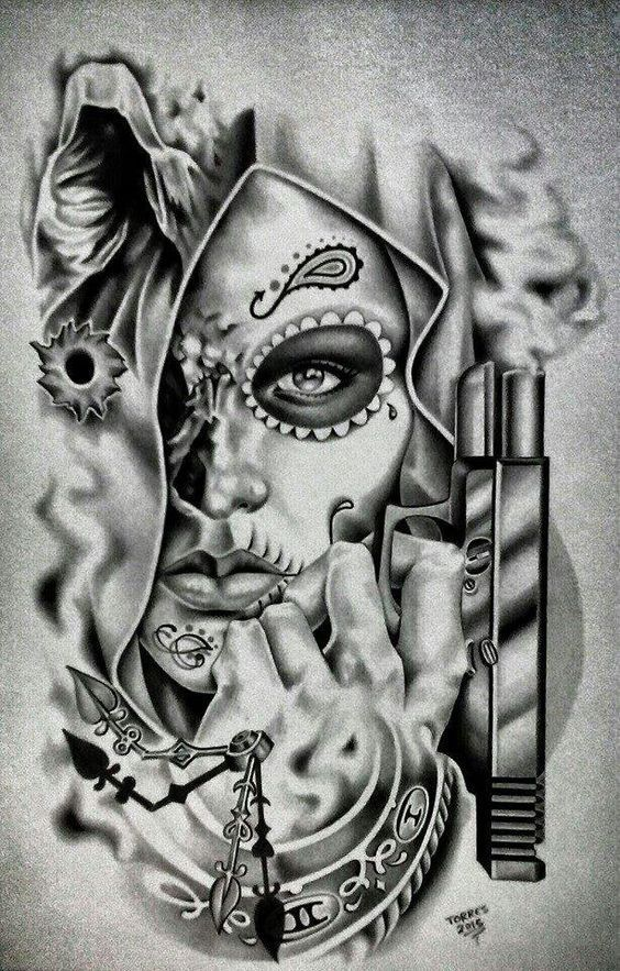 1000 Ideas About Chicano Tattoos On Pinterest Chicano Art Amazing Tattoos For Girl And Guy Creative Tattoos Chicano Art Tattoos