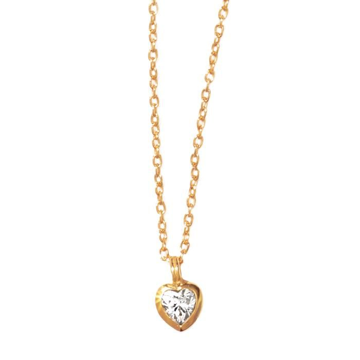 14K Gold Plated Heart CZ Necklace Avon Swarovski and Avon online