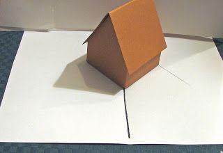 Tutorial Para Hacer Una Casita Pop Up Card Tutorial Pop Up Book Paper Crafts