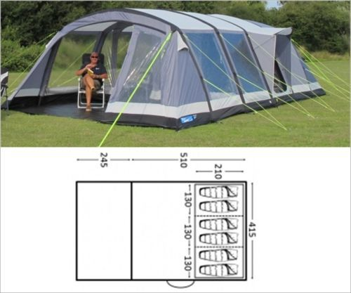 Kampa Air Frame Inflatable Tents & ... K&a Hayling 4 Air Pro - 2018 ...