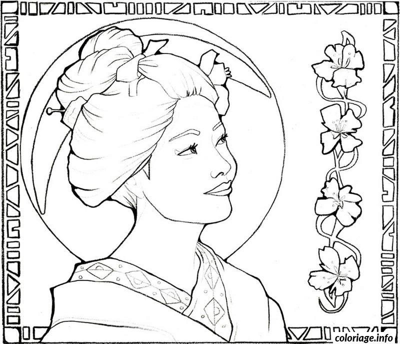 Geisha Coloring Download Geisha Coloring