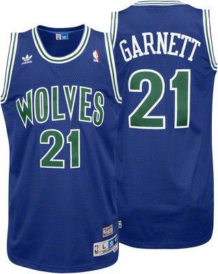 Kevin Garnett Jersey  adidas Blue Throwback Swingman  21 Minnesota  Timberwolves Jersey 3b2fea3ae