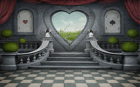 New Item 8ft X 5ft Vinyl Photography Backdrop Alice In Wonderland