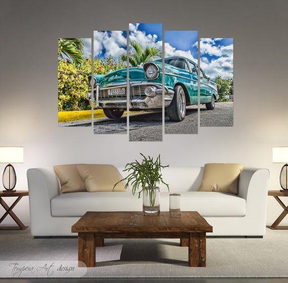 Car lover gift, Vintage car poster, Gift for him, Chevrolet print, Classic car, Gift for car lover, Classic car decor, Framed canvas car