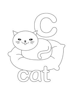 Free printable alphabet coloring pages in lovely original ...