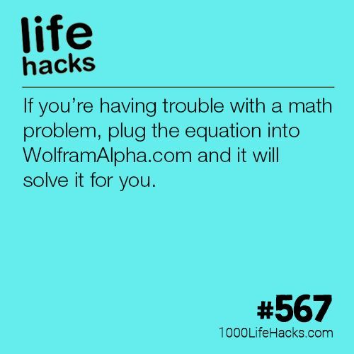 Instantly Solve ANY Math Problem | Pinterest | 1000 life hacks, Life ...