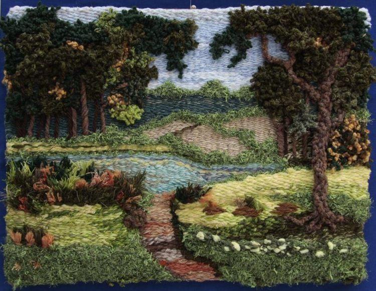 фото схемы гобеленов пейзаж изготовления