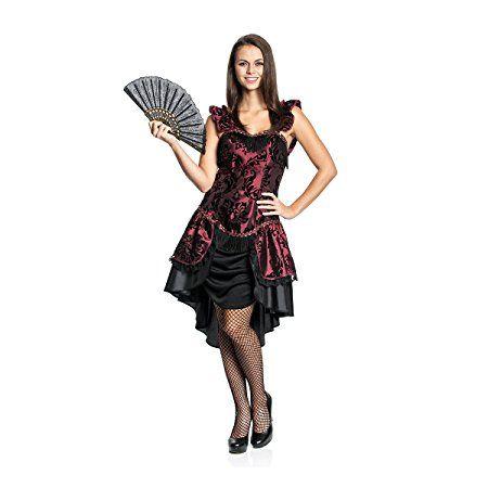 Steampunk Gold Kostüm Damen Kleid Fasching Karneval Damenkostüm Größen L+XL