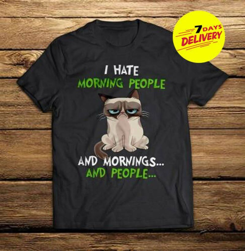 Photo of Grumpy Cat I Hate Morning People And Morning And People Men T Shirt Fu