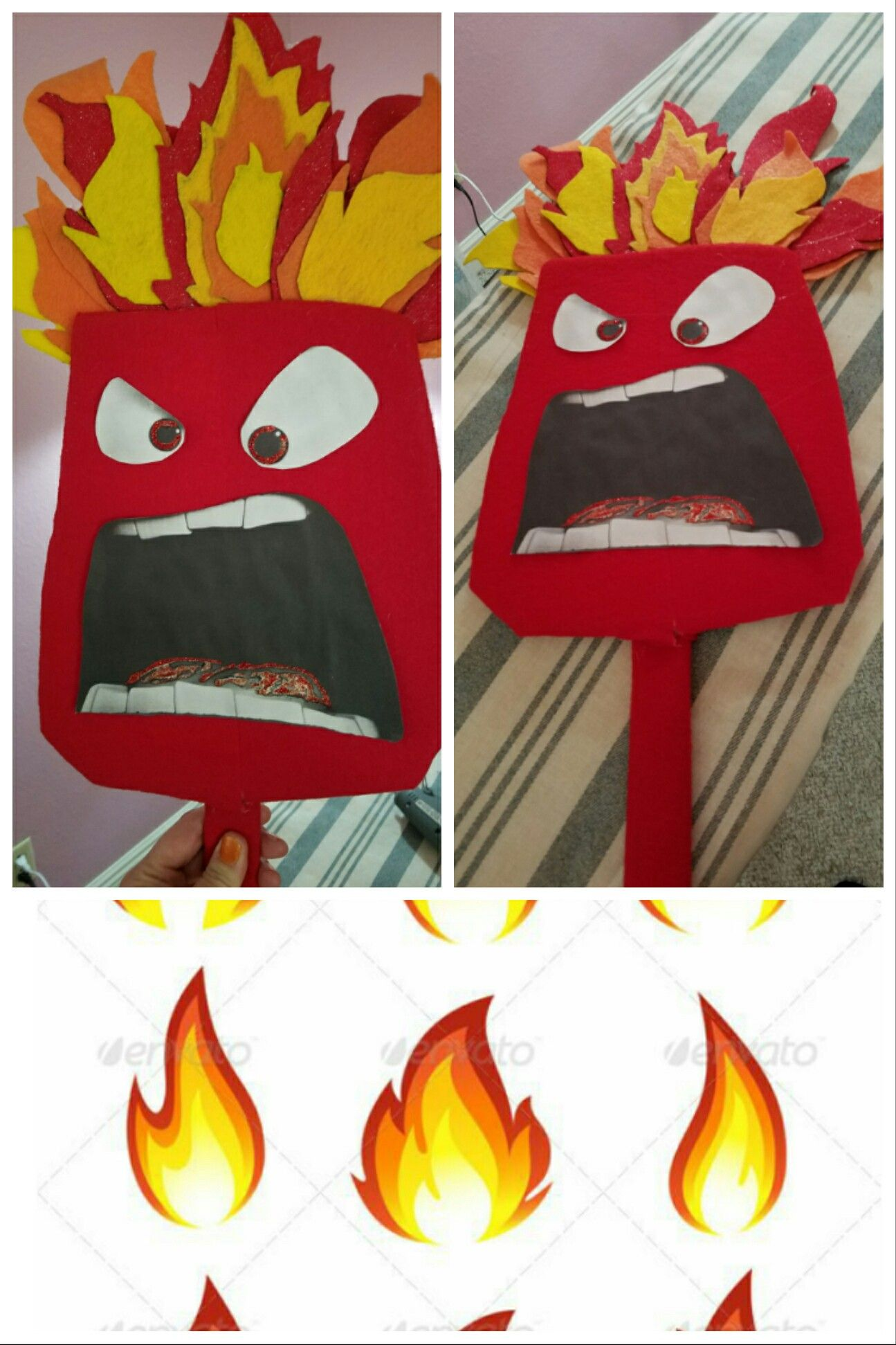 Anger DIY mask from Inside Out    this was fun to make, but