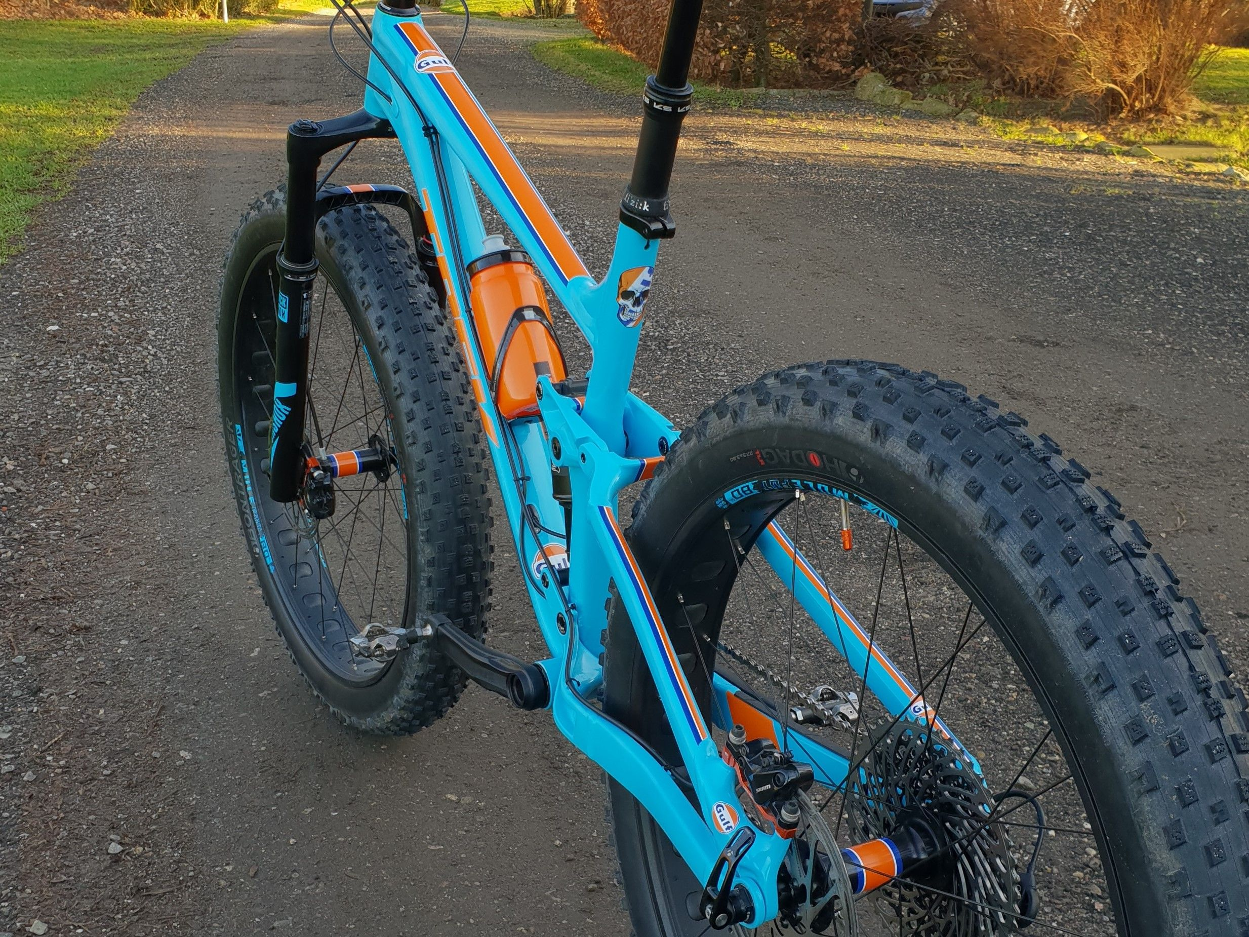 Fin Trek Farley EX 8 Gulf Fat Bike Project | Gulf Racing Color Fat Bike KI-09