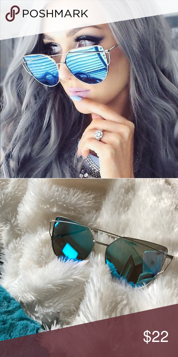 Sold Out Blue Mirror Cat Eye Sunnies Cat Eye Sunnies Blue Lenses Cat Eye Sunglasses