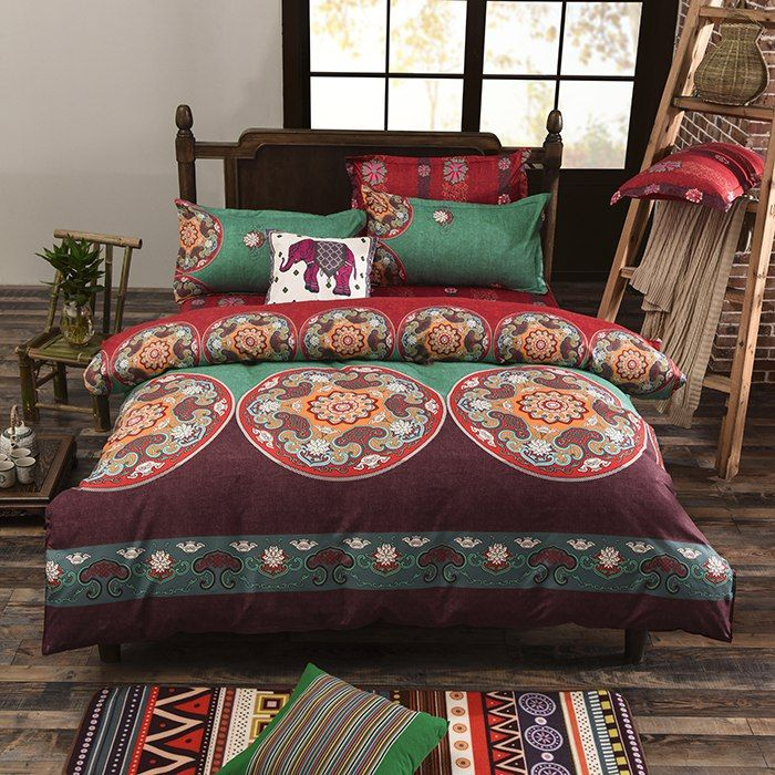 Vaulia Lightweight Bohemian Duvet Covers, Bohemia Exotic Patterns Queen/King Size