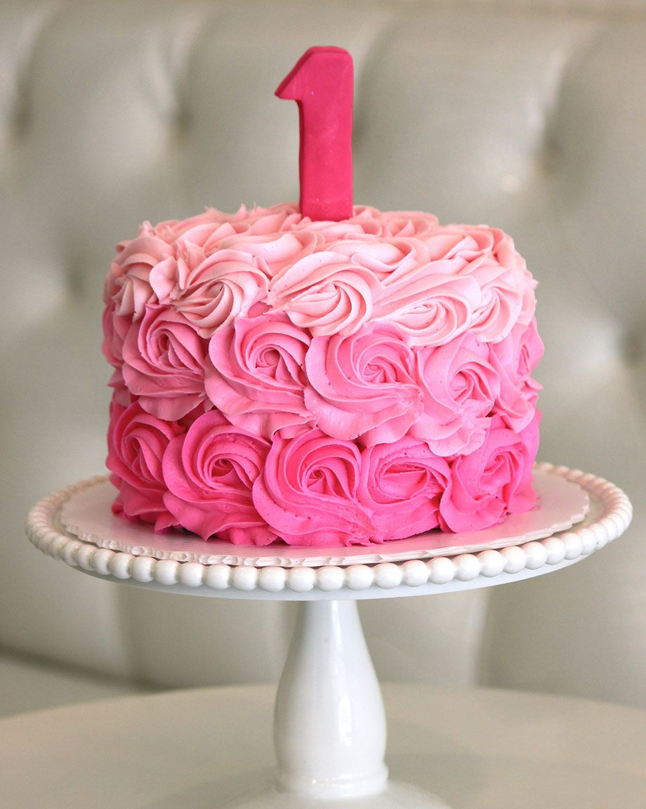 Pink Rosette Cake Images : Ombre Rosette Cake Bday Party ideas!! :) Pinterest ...
