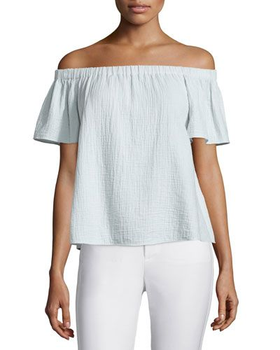 fb5419734bfbac Contemporary Fashion-Forward Trends at Neiman Marcus. TC28J Rebecca Taylor  Off-the-Shoulder Gauze Top