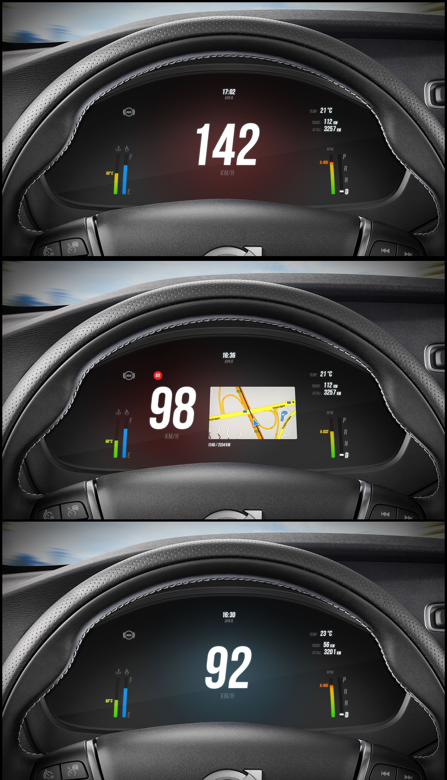 dashboard hd automotive hmi design pinterest car ui cars and ui ux. Black Bedroom Furniture Sets. Home Design Ideas