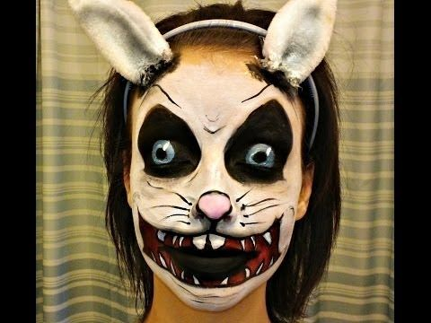 easter bunny facepaint BACK Easter Bunny Face Paint Tutorial