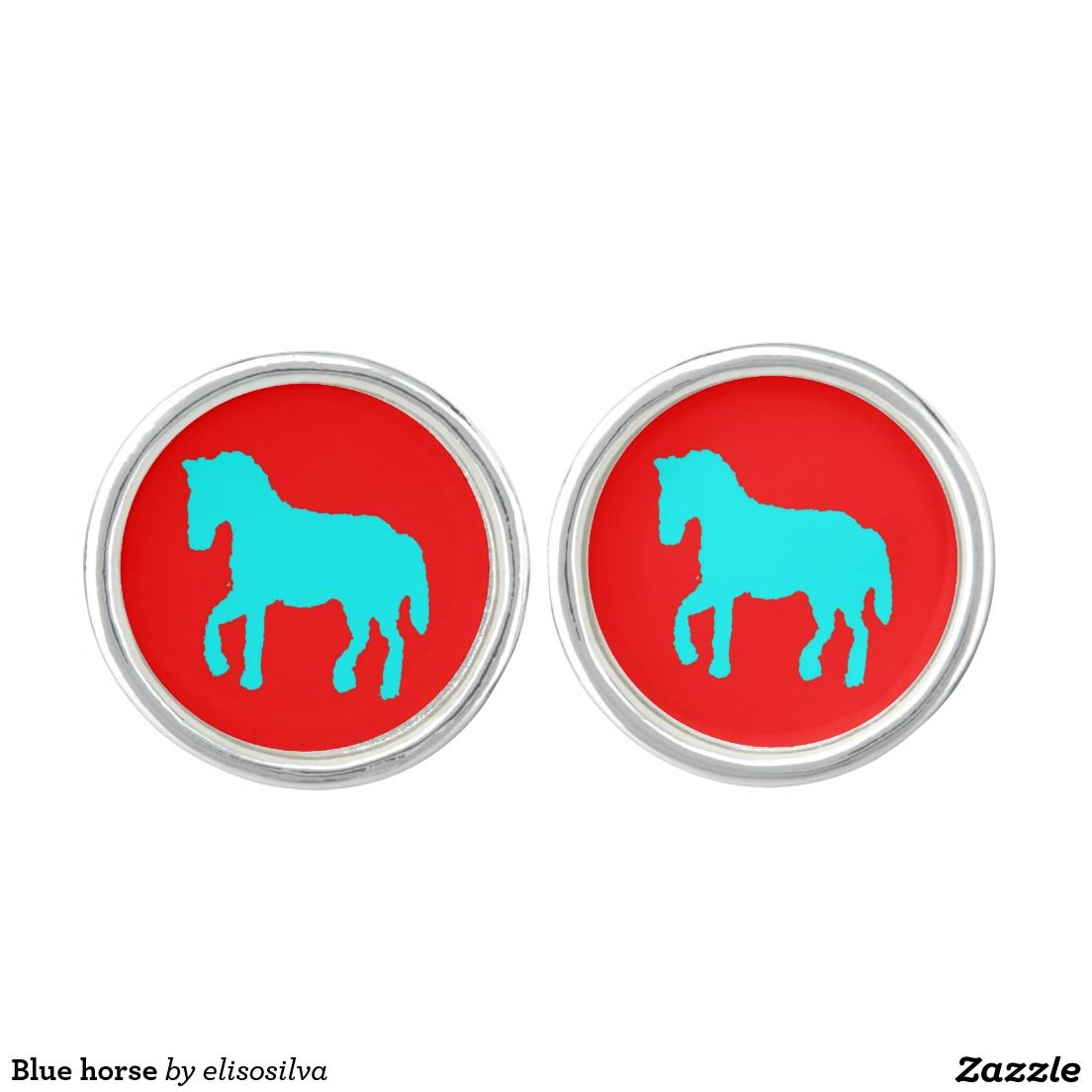 Blue horse mancuernillas