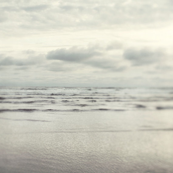 Silver Shores  Beach Photography Muted by EyePoetryPhotography, $30.00