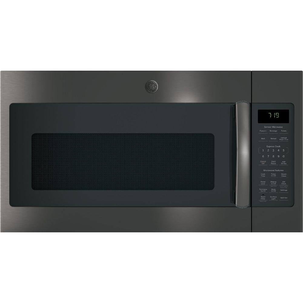 Ge 1 9 Cu Ft Over The Range Microwave Black Stainless Steel Microwave Oven Microwave Black Stainless Steel