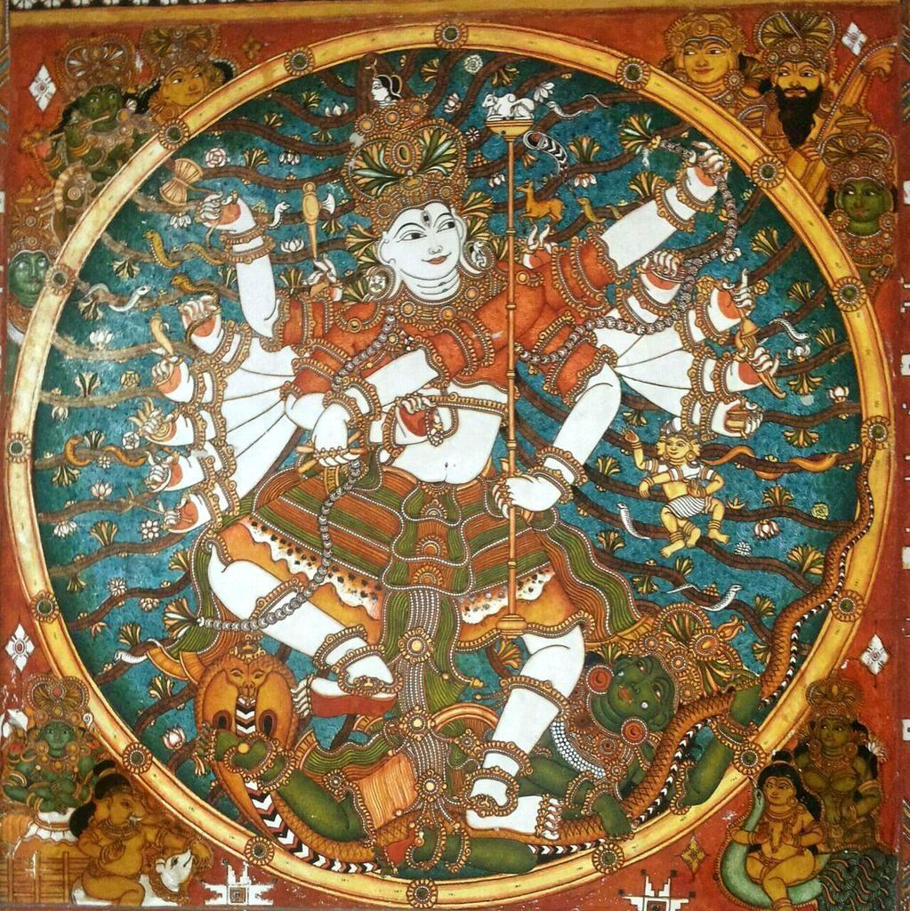 Pin By Shambhavi On Shiva Kerala Mural Painting Mural Painting Painting