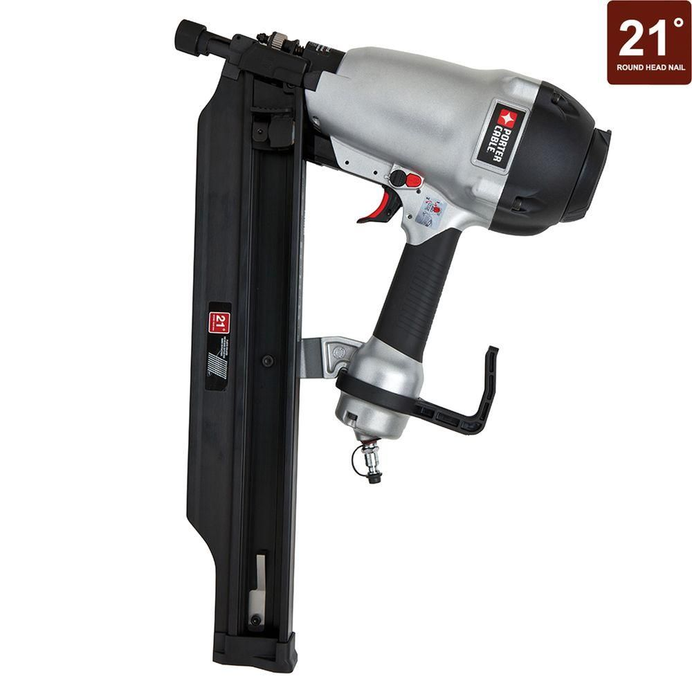 Porter-Cable 21-Degree 3-1/2 in. Full Round Framing Nailer | Cable ...