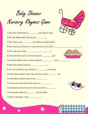 Free Printable Baby Shower Game Ideas   Free Baby Shower Games Printables 4  By Franciene Allen