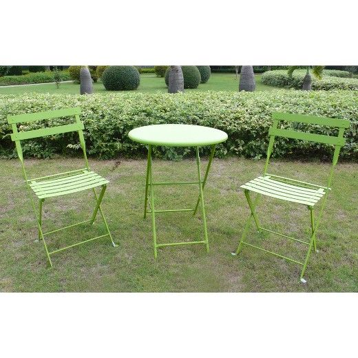 Green Metal Bistro Chairs Revolving Chair Functions 3 Piece Set Threshold Target Wix Sf Patio Pinterest