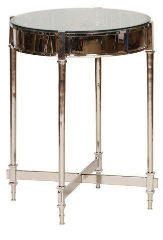 antonia side table silver side tables living room furniture rh pinterest com
