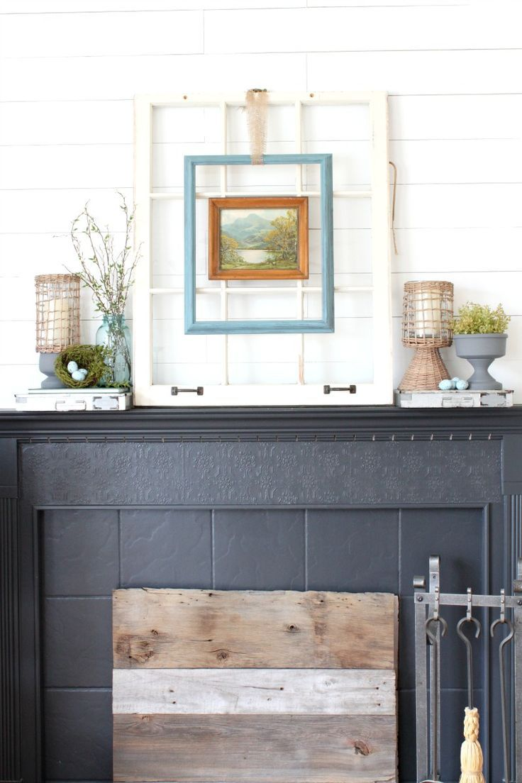 How To Decorate With Thrift Store Finds: An Easy Spring Mantel ...