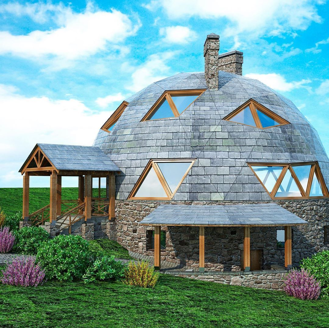 Dome Home Design Ideas: How Cool Is This Home Concept?! This Beautiful