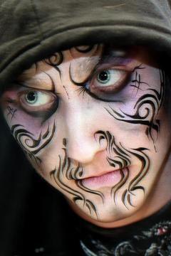Bildergebnis für witch face painting