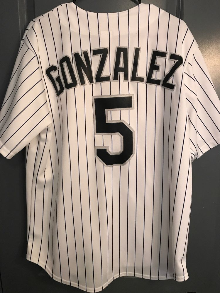 the latest 6e811 37c0d Colorado Rockies Jersey Large Carlos Gonzalez Majestic MLB ...