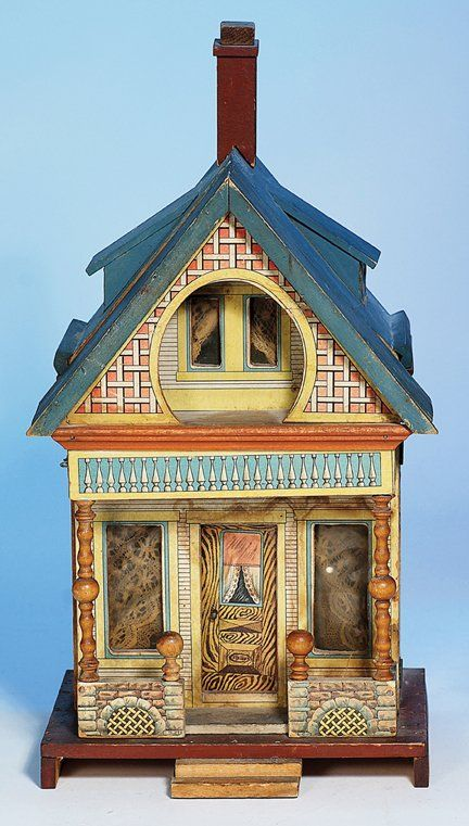 "372: BLISS ""KEYHOLE"" LITHOGRAPHED WOODEN DOLL HOUSE. M : Lot 372"