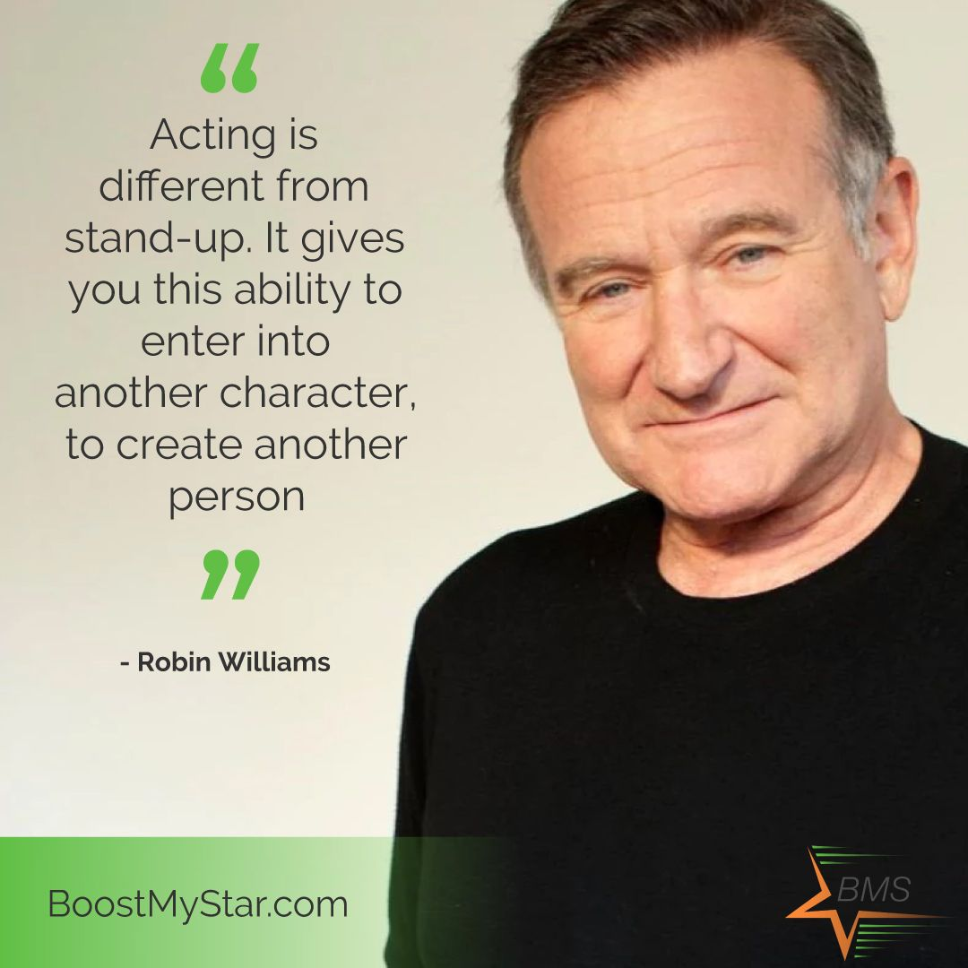 Acting Robin Williams Acting Quotes Acting Actor Quotes