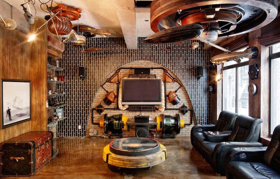 Un intérieur de maison à la tendance rétro & dans l\'esprit déco ...