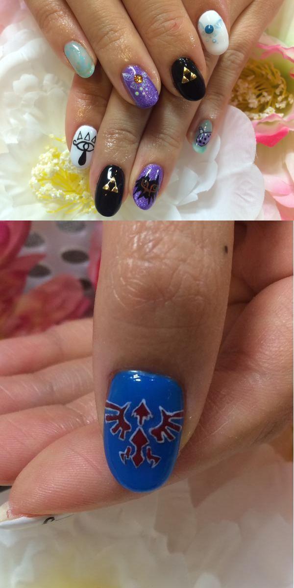 New Zelda Nails Art By Hikata0413 Nails Pinterest Teen Nail