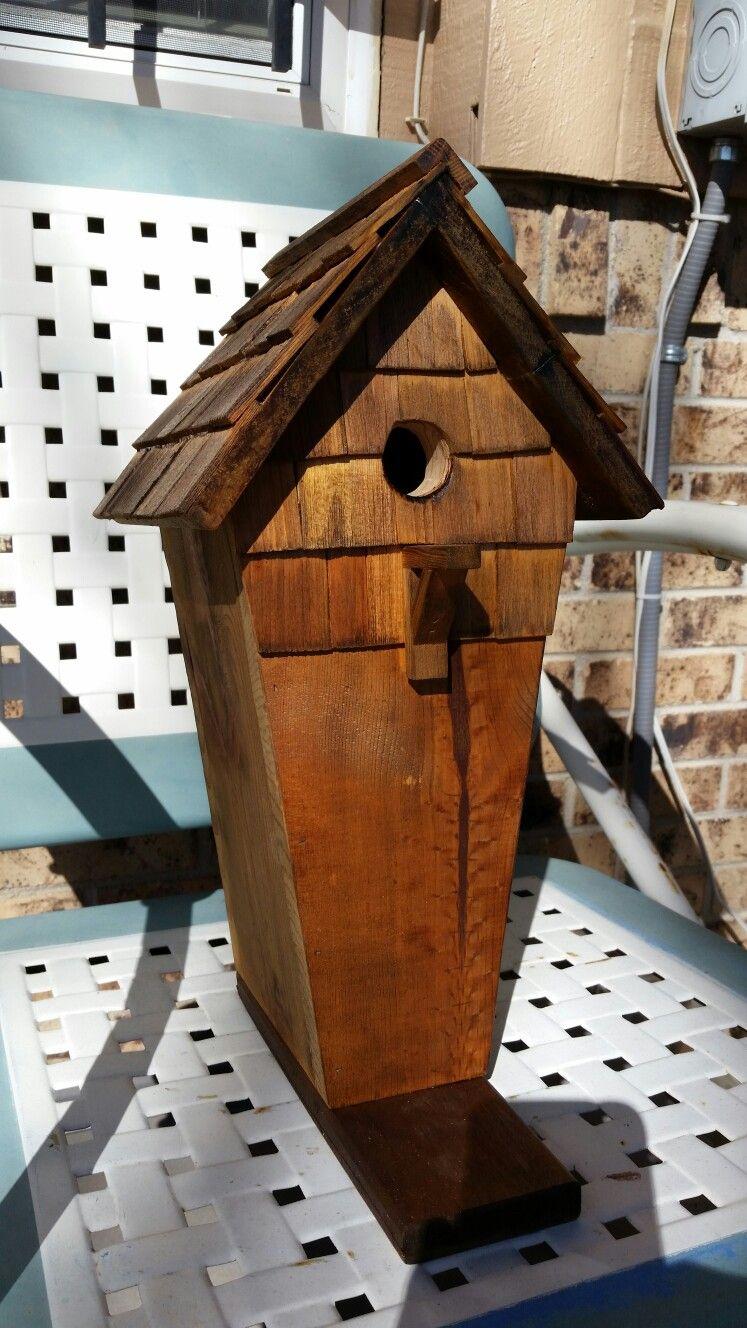 Best Cedar Shake Birdhouse With Images Bird Houses 640 x 480